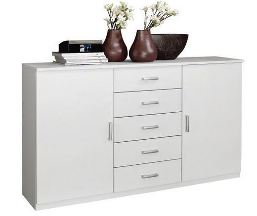 KOMMODE Weiß - Alufarben/Weiß, Design, Holzwerkstoff/Kunststoff (100/86/37cm) - Xora