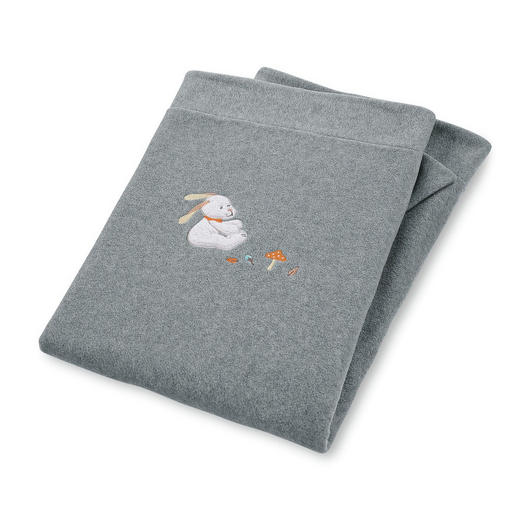 SCHMUSEDECKE 75/100 cm - Grau, Basics, Textil (75/100cm) - Sterntaler