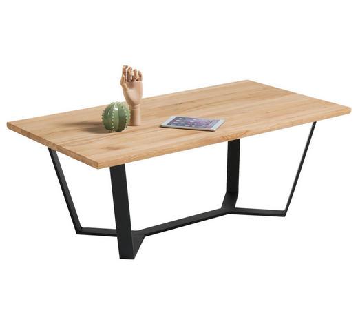 COUCHTISCH in Holz, Metall 110/60/41 cm - Eichefarben/Schwarz, MODERN, Holz/Metall (110/60/41cm) - Hom`in