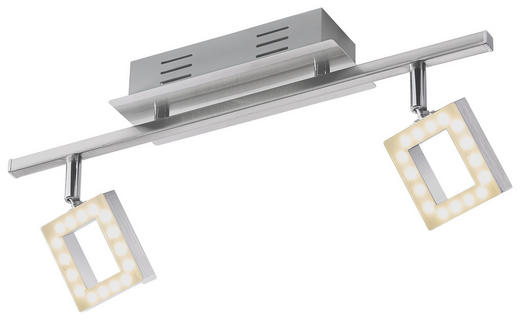 LED-STRAHLER - Chromfarben/Alufarben, Design, Kunststoff/Metall (44,5/8/19cm) - Novel