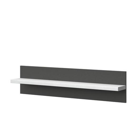 WANDPANEEL Melamin Graphitfarben, Weiß - Graphitfarben/Weiß, Design (132,5/32/20cm) - Xora