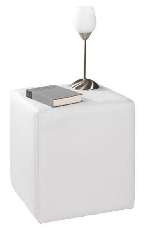 SITZWÜRFEL Lederlook Weiß - Weiß, Design, Textil (40/45/40cm) - Carryhome