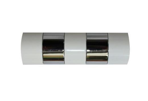 ENDSTÜCK - Silberfarben/Weiß, Basics, Metall (8/2.5cm) - Homeware