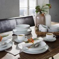 Porzellan  KOMBISERVICE 30-teilig - Schwarz/Weiß, Basics, Keramik - Seltmann Weiden