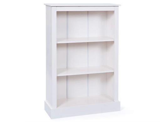 REGAL Kiefer massiv lackiert Weiß - Weiß, LIFESTYLE, Holz (79/115/30cm) - Carryhome