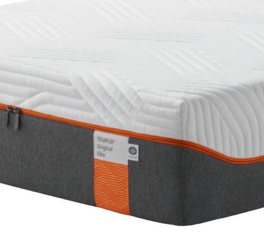 MATRATZE ORIGINAL ELITE 90/200 cm - Weiß/Grau, Basics, Textil (90/200cm) - Tempur