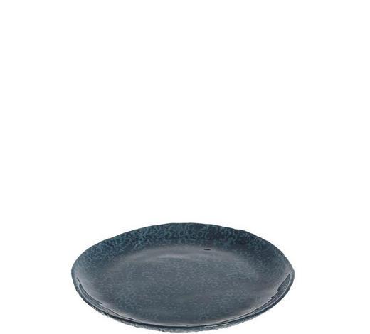 TELLER 21 cm  - Blau, Design, Glas (21cm) - Leonardo