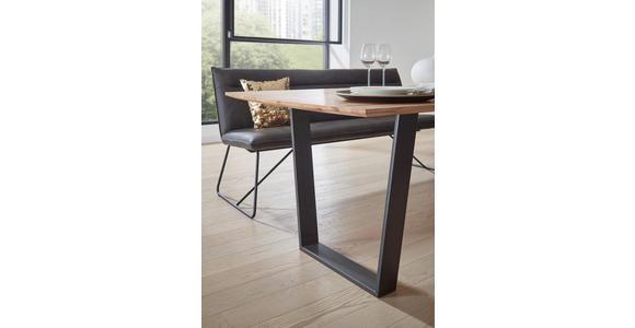 ESSTISCH in Holz, Metall 220/100/76 cm - Buchefarben/Schwarz, Design, Holz/Metall (220/100/76cm) - Valnatura