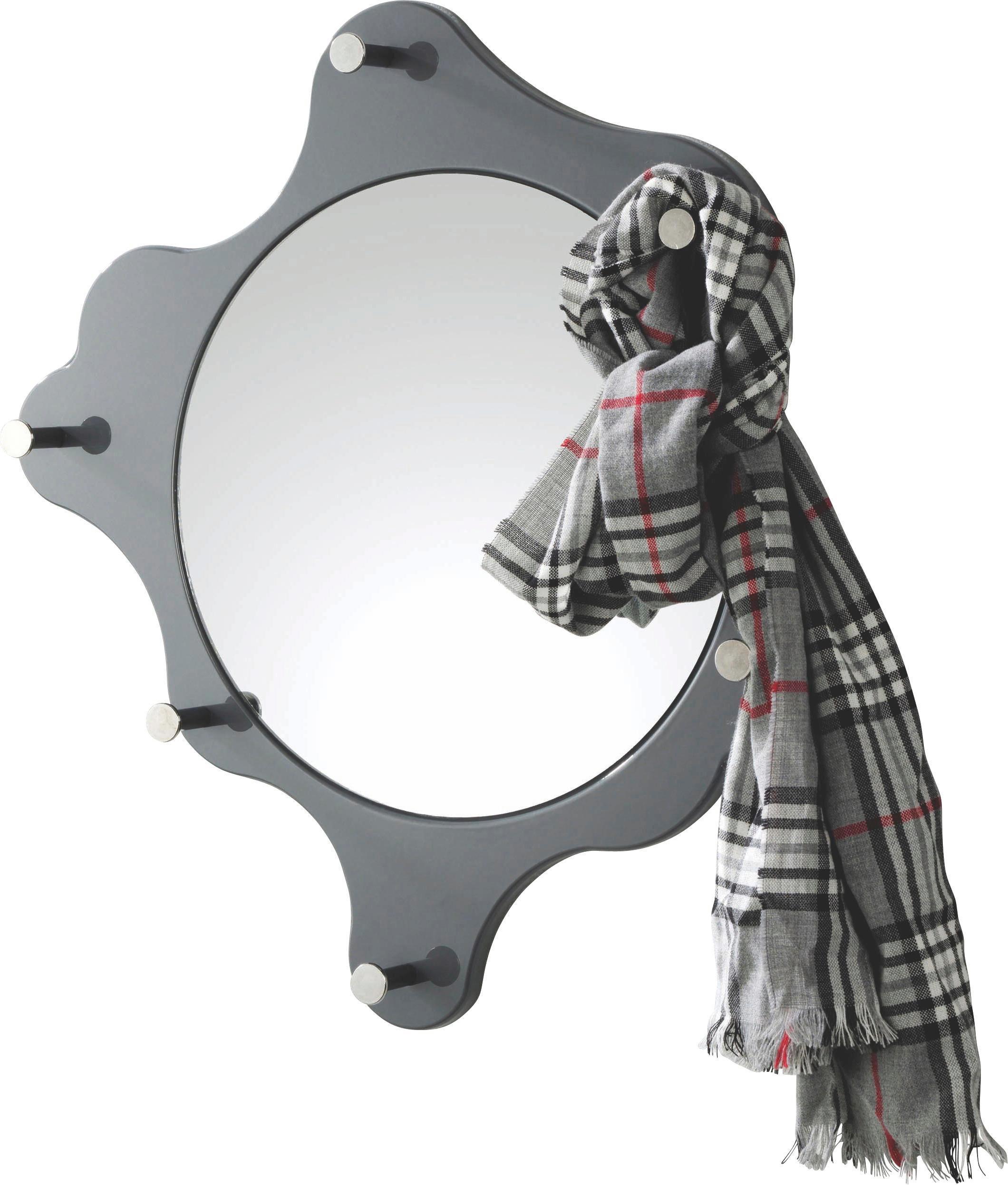 VJEŠALICA ZIDNA - siva, Design, drvo/metal (56cm) - BOXXX
