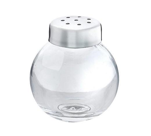 SALZ- UND PFEFFERSTREUER - Edelstahlfarben/Transparent, Design, Glas/Metall (3,5/3,5/4cm) - Fackelmann