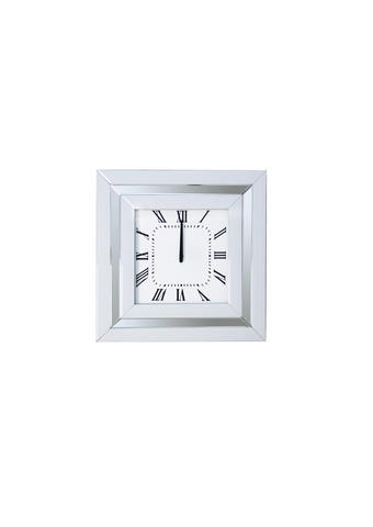 NAMIZNA URA - srebrna, Design, steklo/leseni material (25,5/25,5/6,5cm) - Ti`me