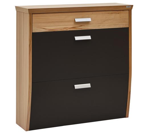 BOTNÍK, barvy buku, tmavě hnědá, jádrový buk - tmavě hnědá/barvy stříbra, Design, kov/dřevo (93/95/32cm) - Dieter Knoll