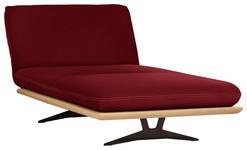 OTTOMANE in Holz, Textil Dunkelrot  - Beige/Schwarz, Design, Holz/Textil (114/92/165-218cm) - Dieter Knoll