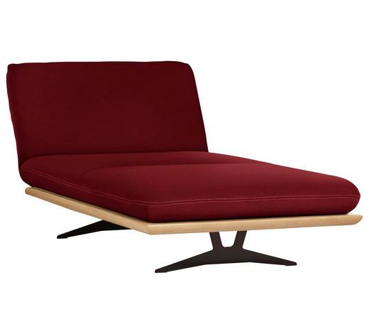 OTTOMANE Dunkelrot  - Beige/Schwarz, Design, Holz/Textil (114/92/165-218cm) - Dieter Knoll