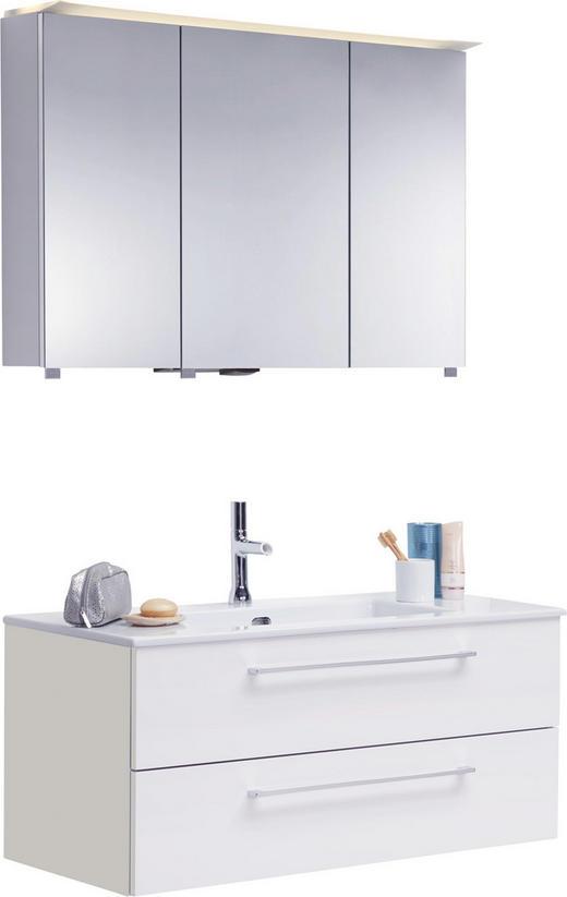 BADEZIMMER - Weiß, Design, Glas/Keramik (100//cm)