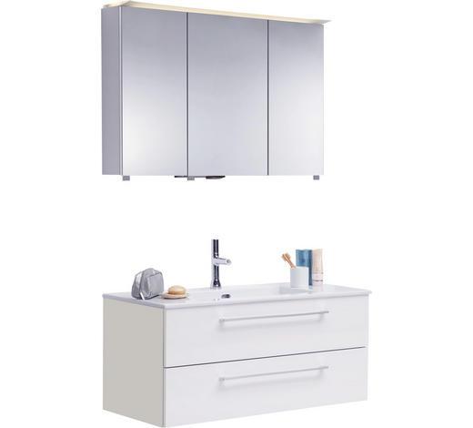 BADEZIMMER - Weiß, Design, Glas/Keramik (100cm)