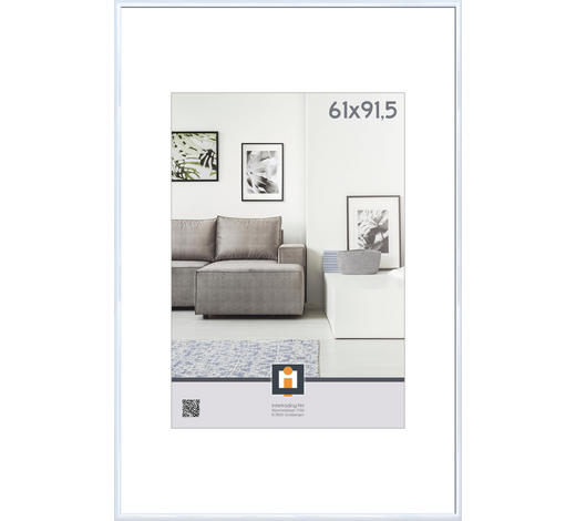 RÁM NA OBRAZY, 61/91,5 cm, bílá - bílá, Basics, umělá hmota/sklo (61/91,5cm)