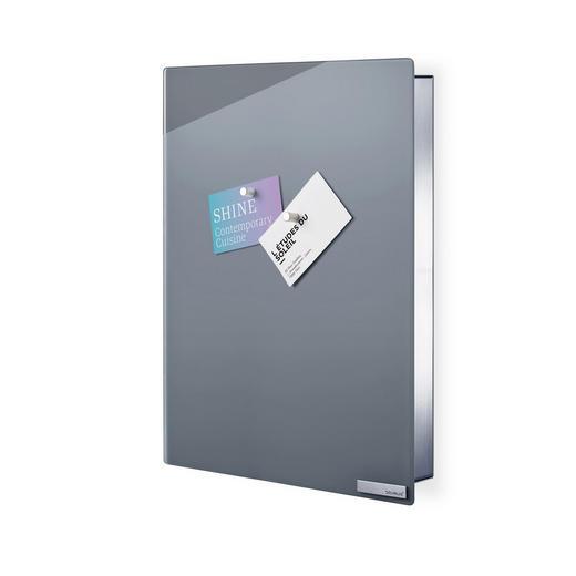 SCHLÜSSELKASTEN Grau - Grau, Design, Glas/Metall (30/40/5cm) - Blomus