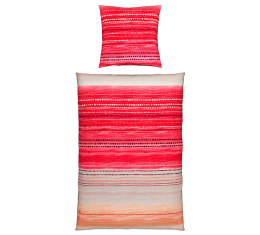 BETTWÄSCHE Renforcé Rot 135/200 cm  - Rot, Design, Textil (135/200cm) - Novel