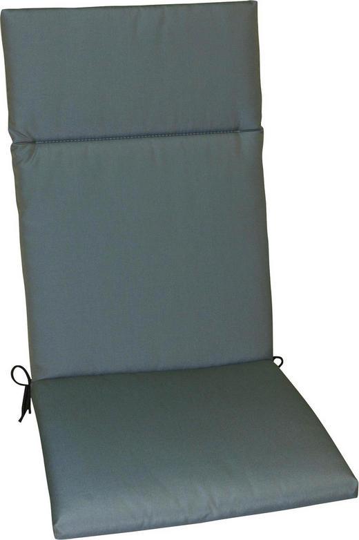 SESSELAUFLAGE Uni - Blau/Grau, Design, Textil (50/120/4cm)