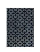 TEPPICH   Weiß, Dunkelblau   - Weiß/Dunkelblau, Design, Kunststoff/Textil (160/230cm)