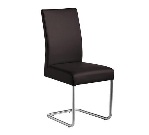 SCHWINGSTUHL in Metall, Textil Braun, Edelstahlfarben - Edelstahlfarben/Braun, Design, Textil/Metall (48/99/69cm) - Valnatura