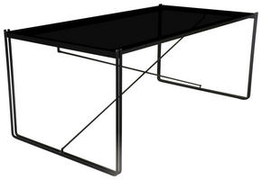 MATBORD - svart, Design, metall/glas (177/74/93cm)