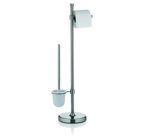 WC-BÜRSTENGARNITUR - Weiß, Basics, Kunststoff/Metall (19/79cm) - Kela