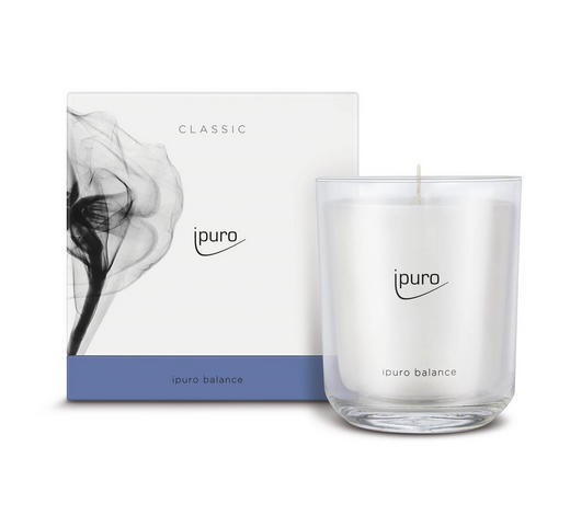 DUFTKERZE BALANCE - Weiß, Basics, Glas (11,5/11,5/12cm) - Ipuro