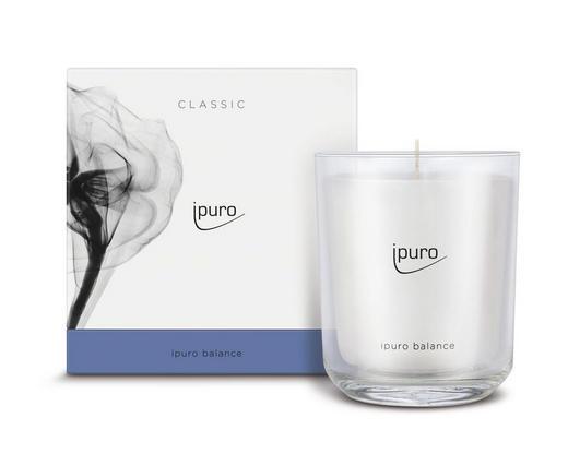 KERZE IM GLAS - Weiß, Basics, Glas (11,5/11,5/12cm) - Ipuro