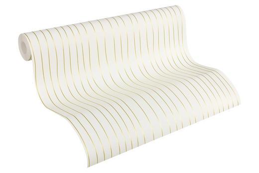 VLIESTAPETE 10,05 m - Goldfarben/Weiß, LIFESTYLE, Textil (53/1005cm)