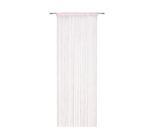 FADENSTORE  halbtransparent  90/245 cm - Rosa, KONVENTIONELL, Textil (90/245cm) - Boxxx