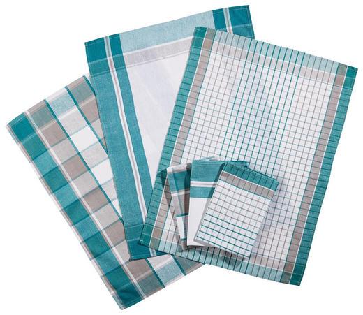 GESCHIRRTUCH-SET - Türkis, KONVENTIONELL, Textil (50/70cm) - Boxxx