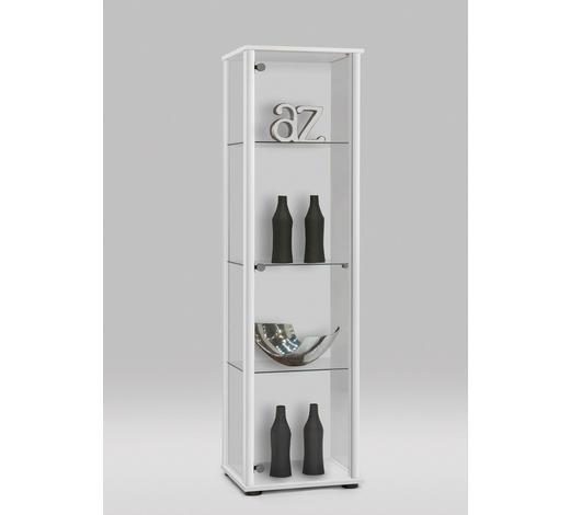 VITRINE Weiß  - Silberfarben/Schwarz, Design, Glas/Kunststoff (42/171/36cm) - Carryhome