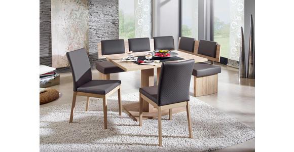 STUHL in Holz, Textil Grau, Eichefarben  - Eichefarben/Grau, KONVENTIONELL, Holz/Textil (47/95/60cm) - Cantus