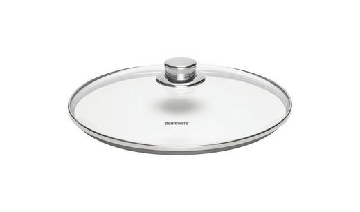 DECKEL  28 cm - Klar/Edelstahlfarben, Basics, Glas/Metall (28cm) - HOMEWARE
