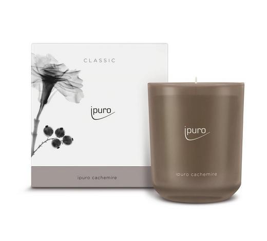 KERZE IM GLAS - Braun, Basics, Glas (11,5/11,5/12cm) - Ipuro