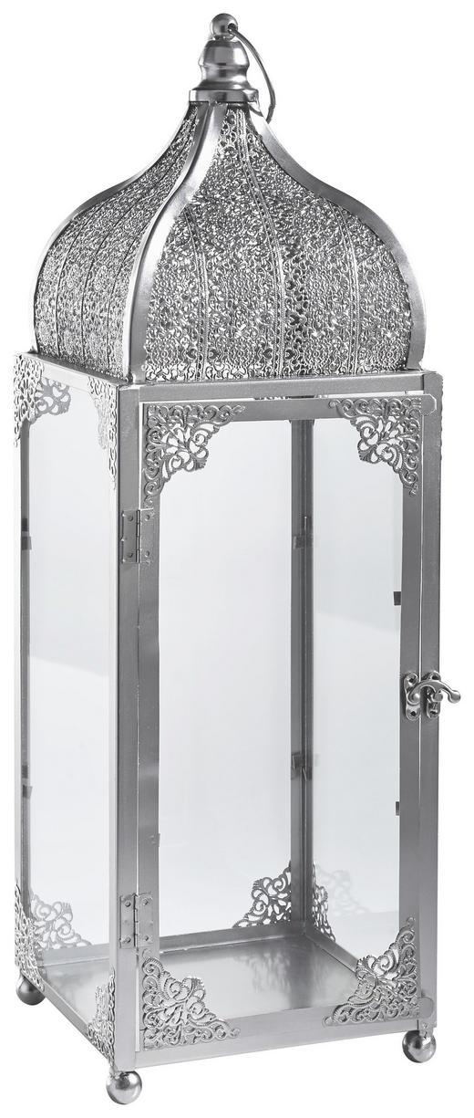 LATERNE - Silberfarben, Basics, Glas/Metall (19/60/19cm) - Ambia Home