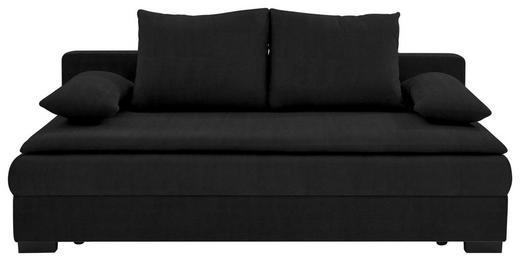 SCHLAFSOFA Schwarz - Schwarz, KONVENTIONELL, Kunststoff/Textil (207/74-94/90cm) - Venda