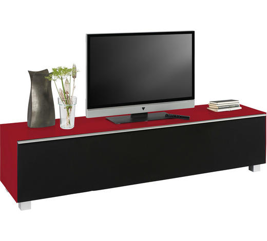 TV-ELEMENT rdeča, črna - aluminij/rdeča, Design, kovina/umetna masa (180/43/42cm) - Voleo