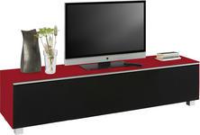 TV-ELEMENT Rot, Schwarz - Rot/Schwarz, Design, Glas/Holzwerkstoff (180/43/42cm) - Voleo
