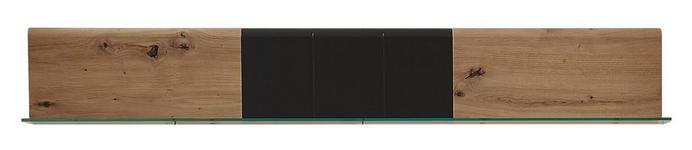 WANDBOARD in 135/20/16 cm Graphitfarben, Eichefarben  - Eichefarben/Graphitfarben, KONVENTIONELL, Holzwerkstoff (135/20/16cm) - Xora