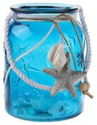 WINDLICHT - Naturfarben/Weiß, LIFESTYLE, Glas/Naturmaterialien (10,8/14,5cm) - Ambia Home