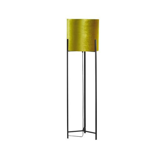 STEHLEUCHTE - Goldfarben/Schwarz, LIFESTYLE, Textil/Metall (40/152cm)