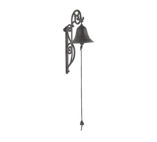 ZVONEK DEKORAČNÍ - hnědá, Lifestyle, kov (33cm)