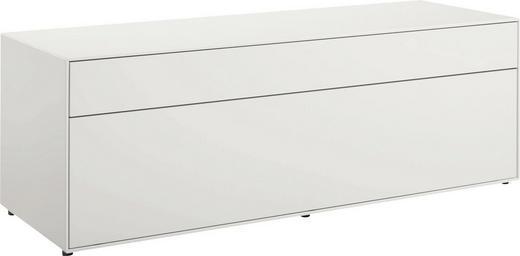 LOWBOARD lackiert Weiß - Schwarz/Weiß, Design (128/44,8/44,8cm) - Hülsta - Now