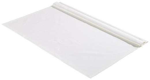 TISCHDECKE Textil Webstoff Weiß 100/100 cm - Weiß, Basics, Textil (100/100cm) - Bio:Vio