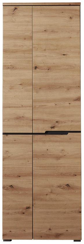GARDEROB - grafitfärgad/ekfärgad, Design, träbaserade material (65/198/38cm) - Voleo