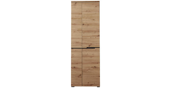 GARDEROBENSCHRANK 65/198/38 cm - Eichefarben/Graphitfarben, Design, Holzwerkstoff (65/198/38cm) - Voleo