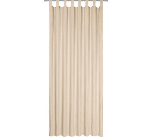 SCHLAUFENVORHANG halbtransparent - Sandfarben, Basics, Textil (135/245cm) - Boxxx